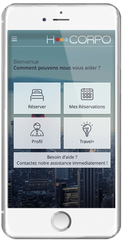 "Voyage d'affaires : HCorpo ajoute l'option ""check in/check out"" à son appli mobile"