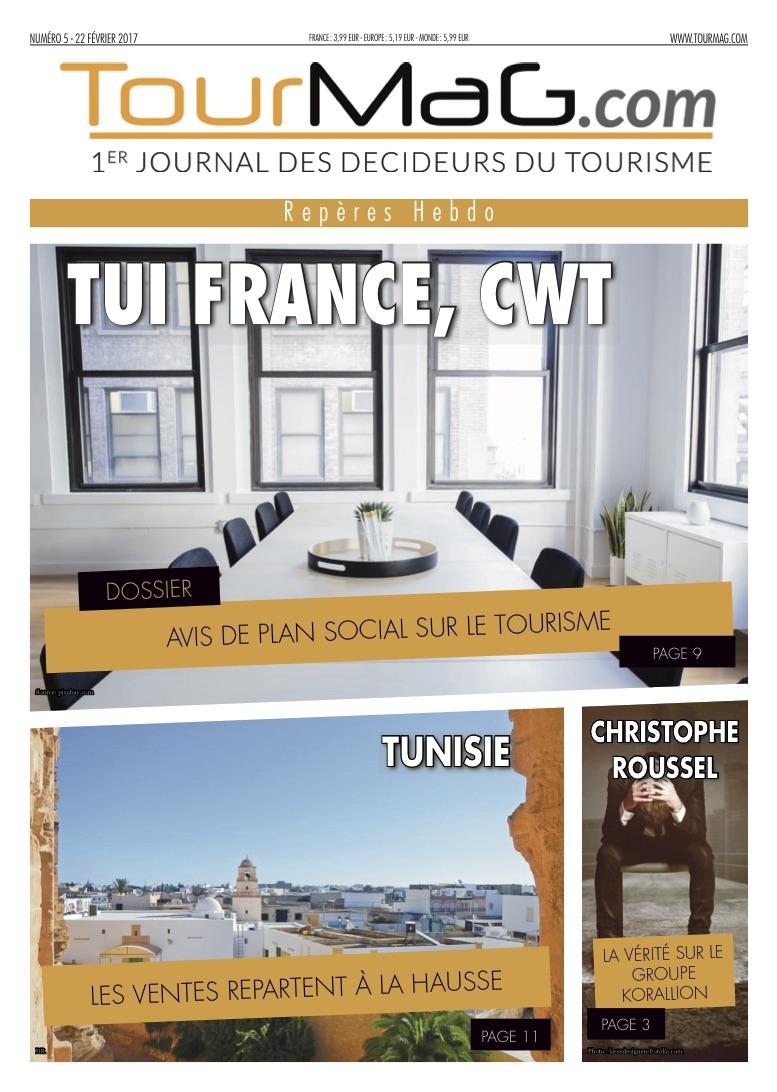 Cliquez sur la couverture du 5e numéro de Repères Hebdo pour vous abonner - DR : TourMaG.com