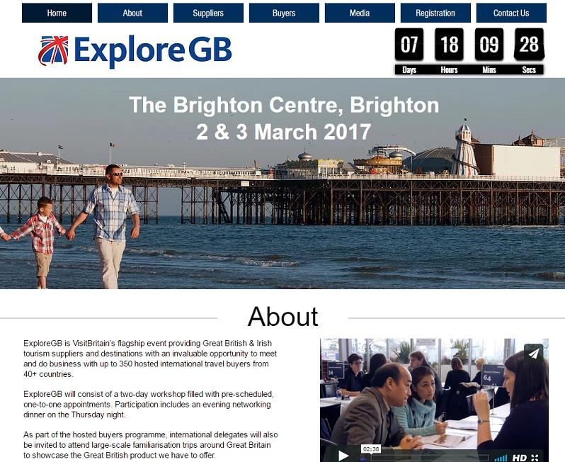 ExploreGB se tiendra à Brighton, dans le sud de l'Angleterre, les 2 et 3 mars 2017 - DR : ExploreGB