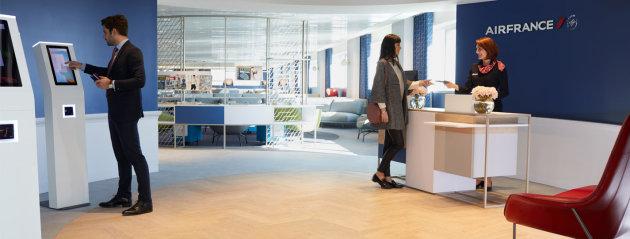 Le nouveau salon Business d'Air France à Paris-Charles de Gaulle ouvre ses portes ce mercredi 1er mars 2017 - Photo : Air France