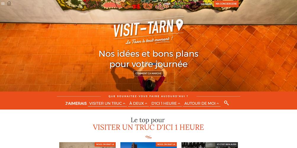 Le nouveau site Internet de Tarn Tourisme propose plus de visuels et de vidéos - Capture d'écran