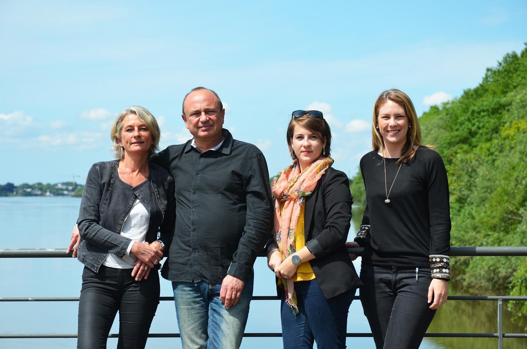 L'équipe d'Hotelgroupes-Restogroupes, de gauche à droite : Christèle, Jean-Baptiste, Amandine et Audrey - DR : Hotelgroupes-Restogroupes