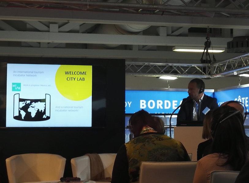 Laurent Queige, délégué général du Welcome City Lab présente à l'ITB sa nouvelle promotion de start-up (c) G. Cromer