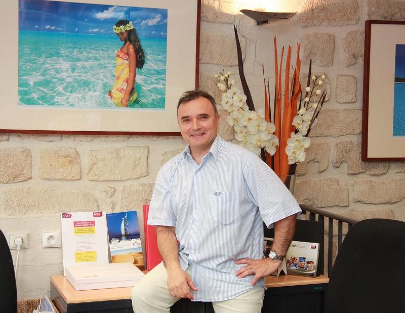 Jean-Marc Gameiro, directeur général de TourExcel Voyages a repris les 3 agences Courtine Voyages et Cap Sud à Avignon - Photo TourExcel