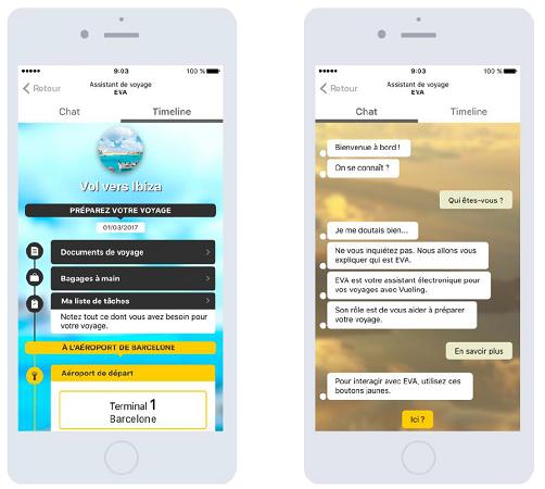 Le service EVA est proposé sur l'application mobile de Vueling - DR : Vueling