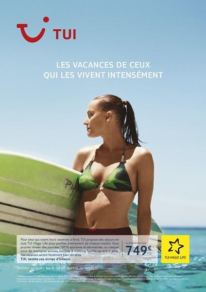 L'un des visuels de la nouvelle campagne de communication de TUI en France - DR : TUI