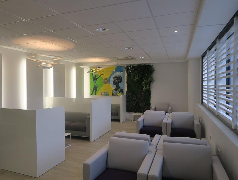 Salon de l'aéroport de Fort-de-France - Photo Corsair