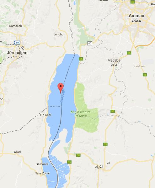 La Jordanie accueille le Sommet arabe de la Mer Morte du 21 au 29 mars 2017 - DR : Google Maps