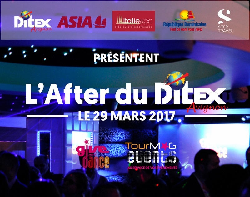 L'After du Ditex aura lieu le 29 mars 2017 au Club Les Ambassadeurs en partenariat avec le Ditex, Asia, Italie & Co, l'OT de République Dominicaine et Step Travel - DR