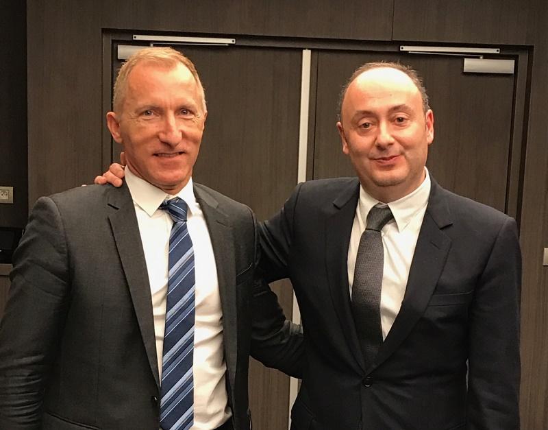 Jean-Noël Lefeuvre nouveau directeur général de Selectour et Laurent Abitbol président de la coopérative - Photo DG
