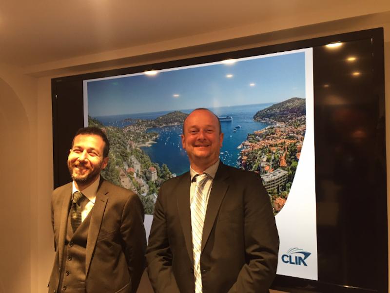 Erminio Eschena et Cédric Rivoire-Perrochat, respectivement président et directeur de CLIA France, se disent très optimistes sur le développement du marché de la croisière en France et en Europe - DR : PG