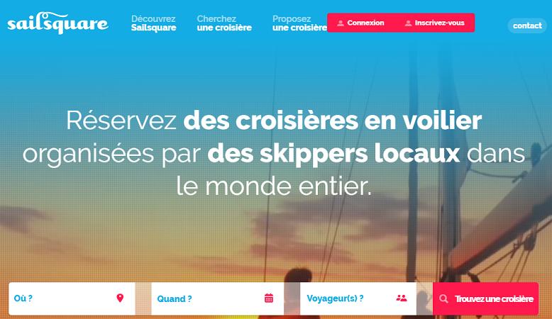 L'offre de Sailsquare est désormais disponible sur le marché français - Capture d'écran