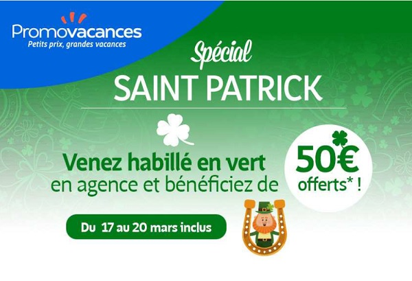 Saint Patrick : les clients de Promovacances vont être... verts !