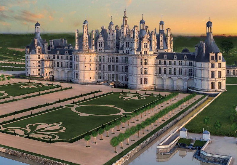 chambord fran ois hollande inaugurera les jardins la fran aise. Black Bedroom Furniture Sets. Home Design Ideas