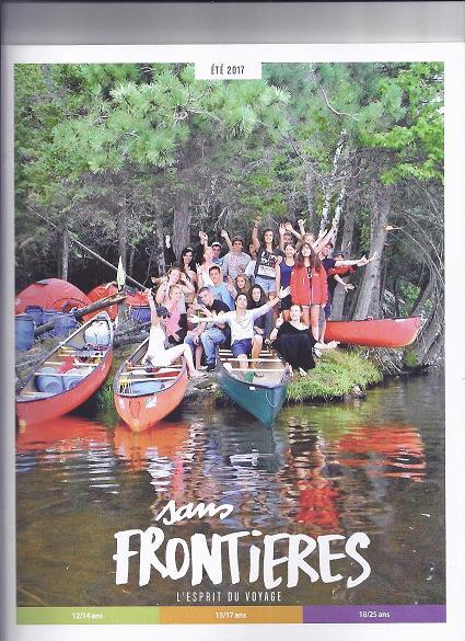 La couverture de la brochure été de Sans Frontières le TO des 12 - 25 ans, dernière acquisition du Groupe Go & Live. Photo S.F.