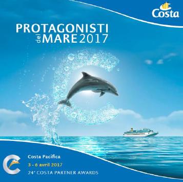La 24e édition des Lauréats de la Mer se déroule du 3 au 6 avril 2017 à bord du Costa Pacifica - DR : Costa Croisières