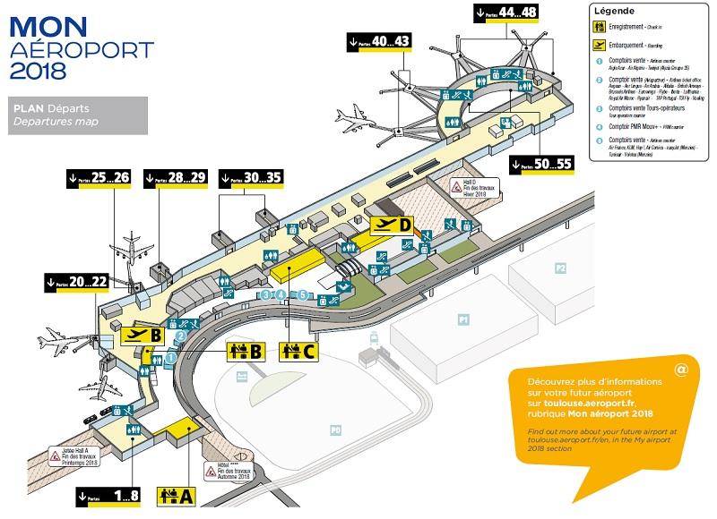Aéroport Toulouse-Blagnac : les travaux de rénovation démarrent le 27 mars 2017