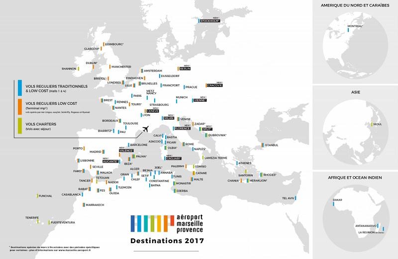 Aéroport Marseille Provence : 20 nouveaux vols pour l'été 2017