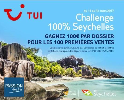 Le visuel du challenge de ventes de TUI - DR : TUI
