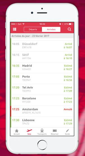 L'application mobile d'Aéroports de Lyon affiche un nouveau design - DR : Aéroports de Lyon