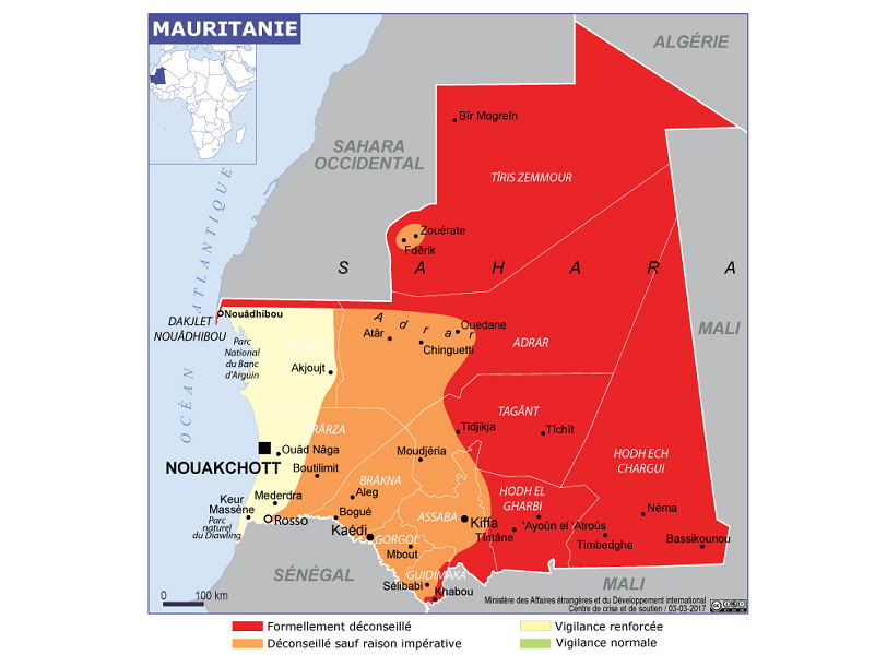 Carte Algerie Mauritanie.Mauritanie Vers Un Vol Paris Atar Des L Automne 2017