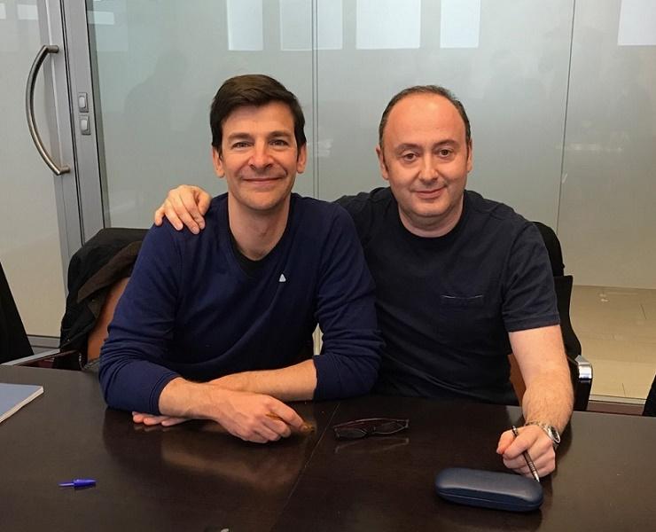 Alain de Mendonça (à gauche), président de FRAM, et Laurent Abitbol (à droite), président de Marietton - Photo : DR
