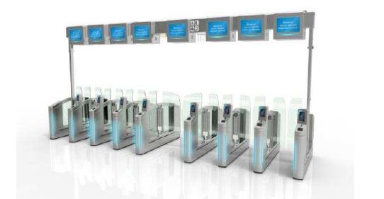 Les passagers passeront par des bornes pour le contrôle de leurs billets - DR : SNCF