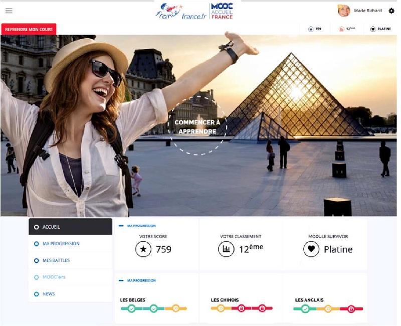 Mooc Accueil France, l'elearning porte sur l'accueil des visiteurs étrangers en France - DR