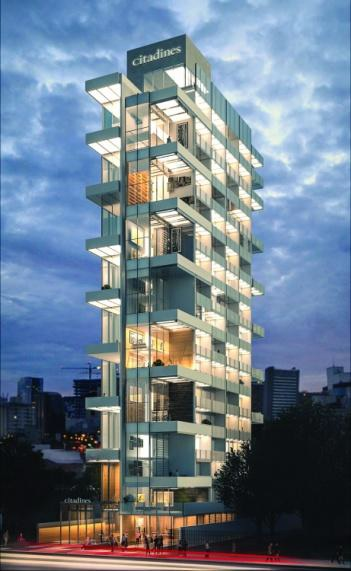 Citadines VN Jardins São Paulo comptera 92 logements, des espaces de co-working et de détente, une salle pour le petit-déjeuner, une salle de sport et une piscine - DR : Ascott