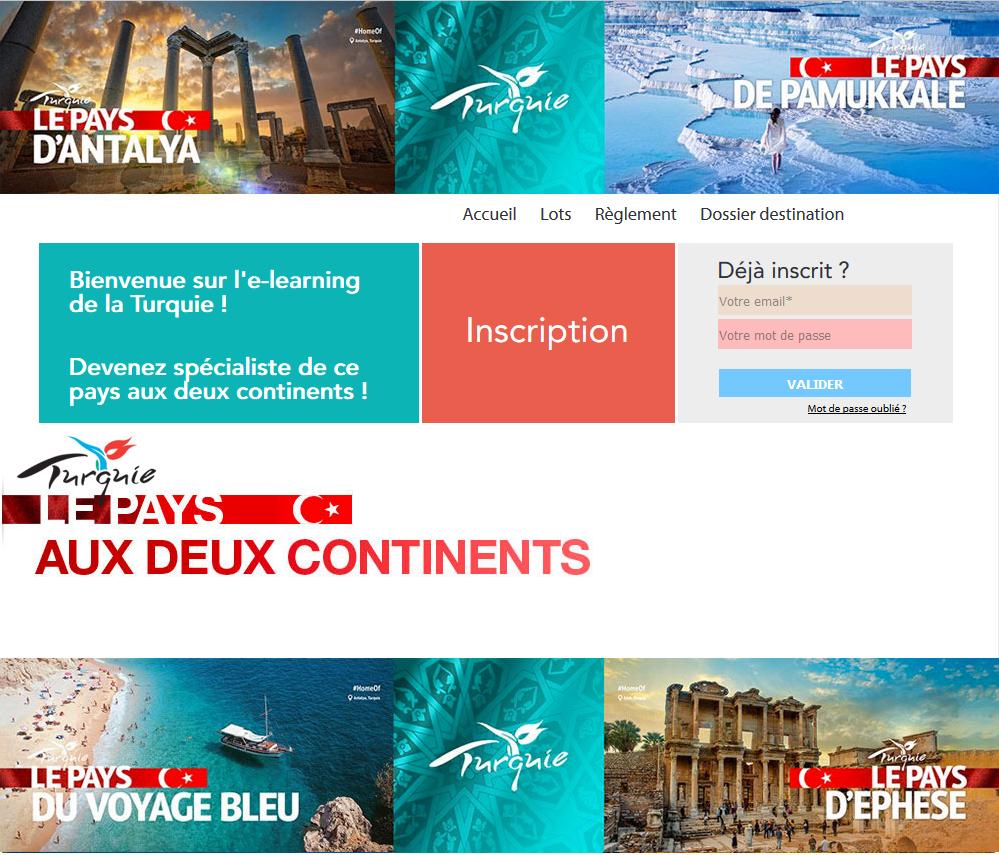 L'e-learning de l'office de tourisme de Tuquie pour les agents de voyages - DR
