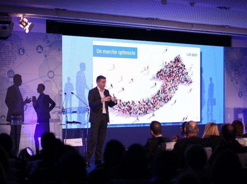 Guillaume Col, PDG France American Express Global Business Travel présente le baromètre EVP 2017 au Pavillon Cambon à Paris (c) AmexGBT