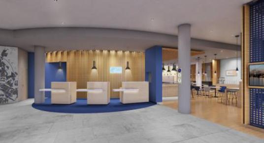 L'Holiday Inn Express de Berlin-Mitte permet aux voyageurs d'affaires de profiter d'espaces de travail - Photo : InterContinental Hotels Group