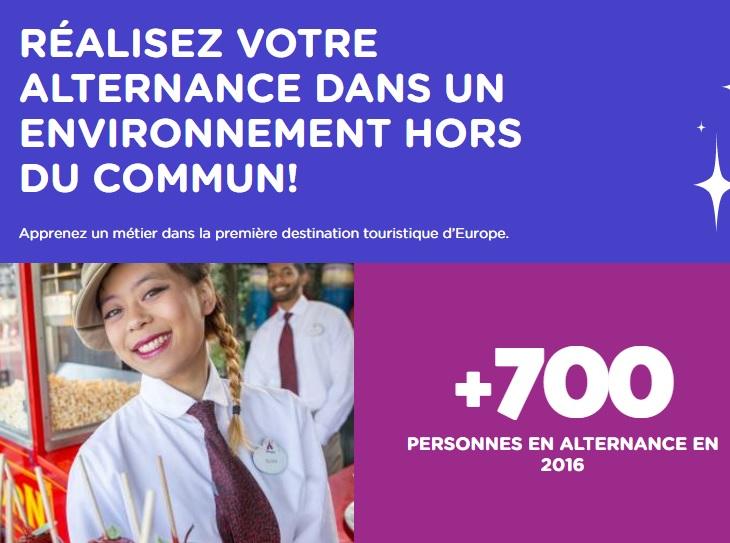 Les candidats ont jusqu'au 19 avril 2017 pour postuler à un poste en alternance - DR : Disneyland Paris