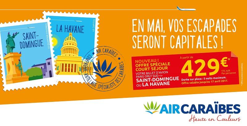 Air Caraïbes lance des city breaks vers la Havane et Saint-Domingue