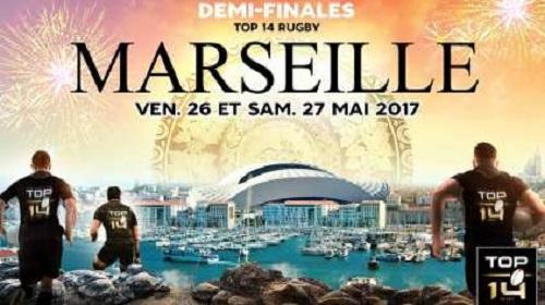 Les 1/2 finales du Top 14 de rugby se tiendront au stade orange Vélodrome à Marseille - DR