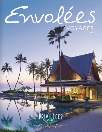 """La couverture du magazine """"Envolées Voyages"""" de Privilèges Voyages - DR : Brochuresenligne.com"""