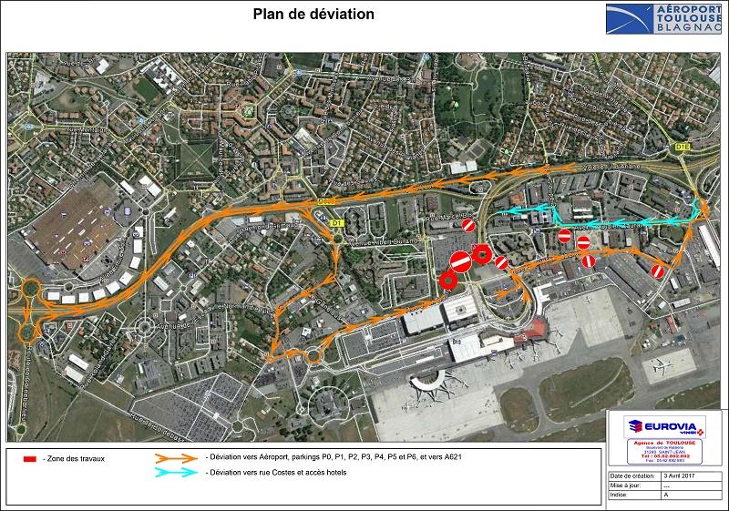 Aéroport Toulouse-Blagnac : accès routier modifiés en avril