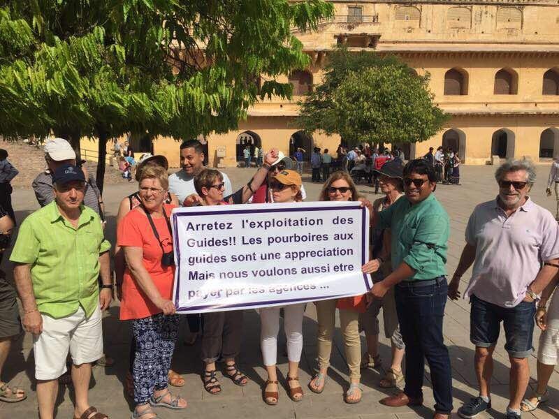 Les guides francophones se mobilisent en Inde - Photo : S.A.