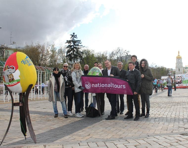 Les 13 commerciaux de Nationaltours Groupes sont partis à Kiev du 13 au 16 avril 2017 - Photo : Nationaltours Groupes