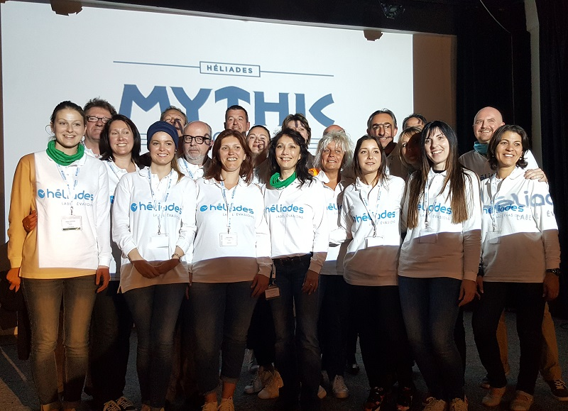 Une grande partie de l'équipe commerciale d'Héliades France a participé à ce Mythic Tour. L'occasion de nouer des liens avec les agents de voyages de leur région et de les motiver lors des épreuves en équipe - DR : A.B.