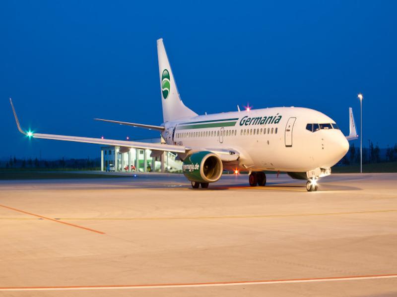 La compagnie allemande serait en discussion avec l'aéroport Marseille-Provence © DR Germania