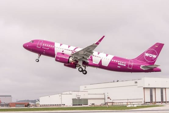 L'A320neo de WOW Air volera à partir du 3 mai 2017 - Photo : WOW Air