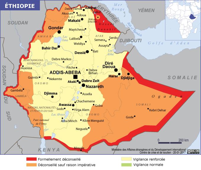 La carte publiée sur le site du Quai d'Orsay - DR