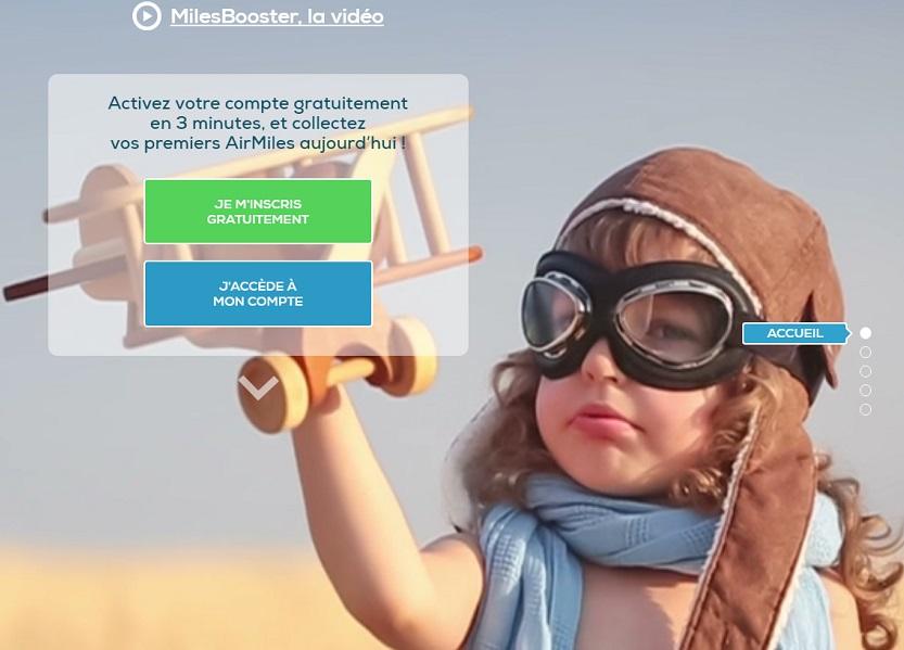 MilesBooster est un programme de fidélité multi-enseignes et gratuit.   Il récompense ses membres en miles aériens universels pour chaque achat réalisé en ligne chez un des 1.300  partenaires. (c) MilesBooster