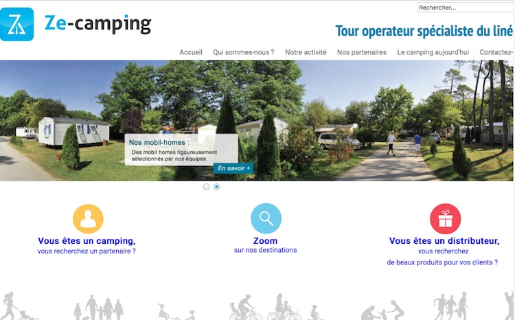 Le site pro de Ze-camping - Capture écran