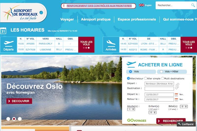 Moteur vols et séjours : l'aéroport de Bordeaux lance un appel à candidature pour son site web