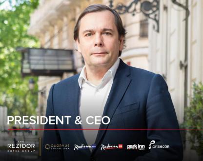 Federico Gonzàlez-Tejera est le nouveau PDG de Rezidor Hotel Group - Photo : Rezidor Hotel Group