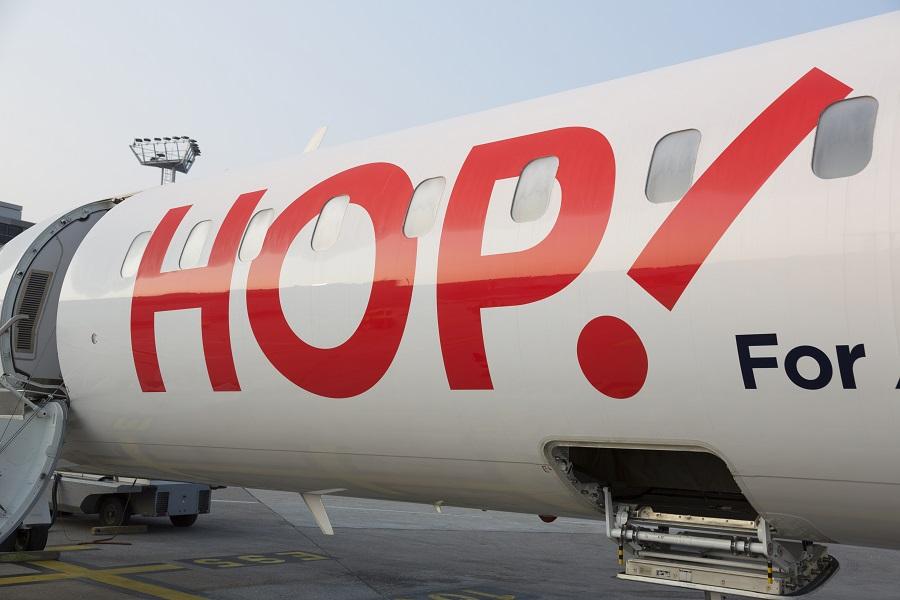 Les commerciaux de Hop ! Air France présentent le programme et les nouveautés de la compagnie aériennes aux agents de voyages français - Photo : HOP G_GRANDIN