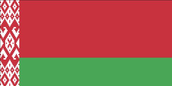 Drapeau de la Biélorussie - DR : Wikipedia