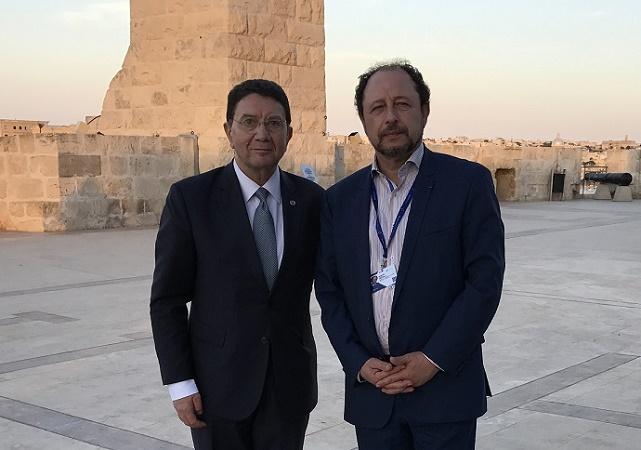 Taleb RIFAI et Philippe FRANCOIS, à La Valette, le 24 mai 2017 - Photo : FTC